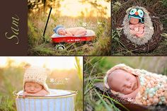 Love the options of outdoor baby photography! :)