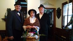 Terry Mason (Colonel Pickering), Stacy Crickmer (Eliza Doolittle), and Jim Mitchell (Henry Higgins). Photo by Zina Bleck.