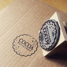 Custom Stamp for Cocoa Delicious Logo Bakery Branding, Bakery Packaging, Food Packaging Design, Soap Packaging, Brand Packaging, Branding Design, Bottle Packaging, Label Design, Package Design