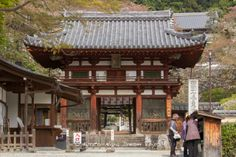 The Niōmon gate of the Oka-dera temple (岡寺) in Asuka Mura (明日香村) in Nara. #OkaDera, #岡寺,#AsukaDera, #飛鳥寺, #Nara,