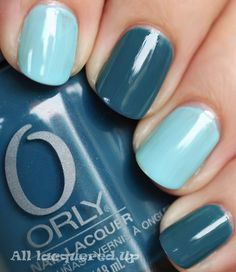 orly sapphire silk nail polish and color club factory girl nail polish swatch multi-colored manicure