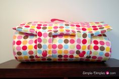 Nap Mat with Applique Name Tutorial    (added by me: I might have to make one of these, it just looks fun to make)
