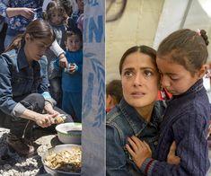 Salma en Libano, con los refugiados sirios