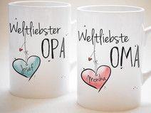 """""""Weltliebste OMA & Weltliebster OPA"""" - SET"""
