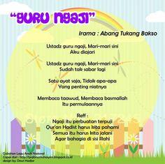 Guru Ngaji (original song Abang Tukang Bakso) Islam For Kids, Original Song, Kids Songs, Islamic Quotes, Kids And Parenting, Quran, Education, Movie, Key