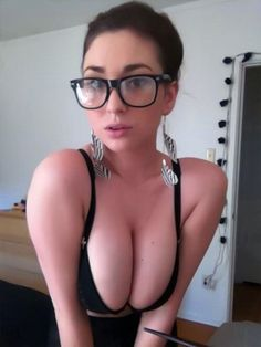 Opinion Sexy nerd girl boob and what