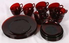 ruby red dishes