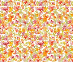 Watercolor Flower, Spring 2013 Collection, No. 6 fabric by susan_magdangal on Spoonflower - custom fabric