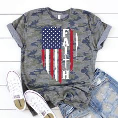 Enter this 40% OFF code at checkout: FAITH40 Camo Designs, Christian Clothing, T Shirts For Women, Clothes For Women, Latest Fashion For Women, Cool T Shirts, Dress To Impress, Sleeve Styles, What To Wear