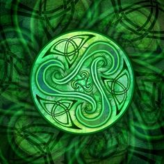 Celtic spiral triskele--The triscele has been used since ancient times in Celtic culture to symbolize the cycle of life. It represented three elements: sea, land and sky and three worlds- our world, underworld (world of the dead) and the Faerie world. It has also been a symbol for the Holy Trinitiy since post-pagan times and medieval times in Scotland, Ireland, parts of England and Wales