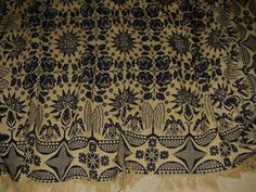 1850s PENNA FAMILY HAND WOVEN COVERLET The Lady Of Shalott, Weavers Cloth, Bath Linens, Carpets, Primitive, Color Pop, 19th Century, Needlework, Blankets