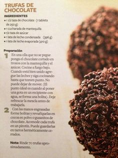 Trufas de chocolate | https://lomejordelaweb.es/