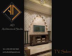Salon in Andalusian Style Modern Villa Design, Behance, Interior Design, Mirror, Architecture, Spirit, Style, Nest Design, Arquitetura