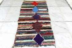 Excited to share this item from my shop: Handmade vintage Boucherouite runner rug, Berber beauty from the Atlas mountains x / 186 cm x 85 cm Boucherouite Handmade Rugs, Handmade Gifts, Cheap Carpet Runners, Beni Ourain, Atlas Mountains, Berber Rug, Rug Runner, Moroccan, House Warming