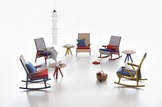 Vieques collection Mecedora rocking chair designed by Patricia Urquiola for Kettal