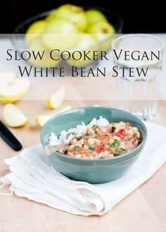 Cafe Johnsonia: Slow Cooker Vegan White Bean Stew