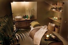 Wig Aveda, Stockholm || day spa || massage therapy room || esthetician room…