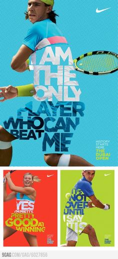 Nike Tennis Posters by Leo Rosa Borges l Branding Graphisches Design, Layout Design, Creative Design, Logo Design, Sport Design, Design Ideas, Nike Design, Sports Graphic Design, Brochure Design