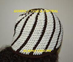 GORRO / TOUCA ESPIRAL EM CROCHE