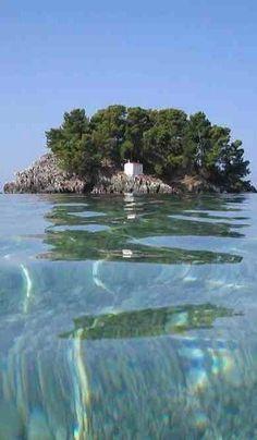 """greecebeauties:  """"Island of Mary (Panagia) - Parga, Epirus, Greece  """""""