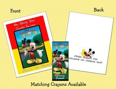 mickey mouse personalized coloring bookcrayons favor set