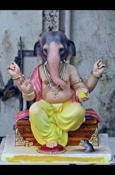 Ganapati Jai Ganesh, Ganesh Lord, Ganesh Idol, Shree Ganesh, Ganesh Images, Lord Krishna Images, Kali Hindu, Hindu Art, Ganesha Painting