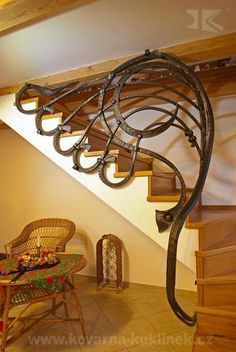 ideas for basement stairs ideas staircase remodel wrought iron Iron Stair Railing, Staircase Railings, Banisters, Stairways, Escalier Art, Escalier Design, Railing Design, Staircase Design, Balustrade Inox