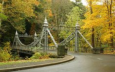 Intriguing metal-work bridge near Youngstown, OH... (Photo by Thinkstock)