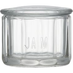 Glass Jam Jar in New Organizing & Storage | Crate and Barrel