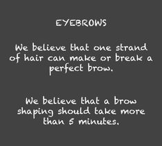 We believe in perfect eyebrows #Finesse