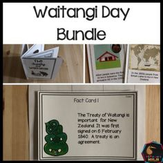 Waitangi Day Bundle activities that are ready to use for New Zealand Teachers Interactive Activities, Interactive Notebooks, Treaty Of Waitangi, Waitangi Day, Classroom Environment, Teaching Resources, New Zealand, Kiwi, Facts