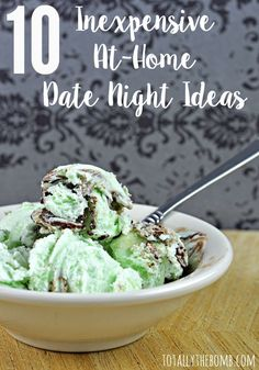 erledigt 10 Inexpensive At-Home Date Night Ideas. Gelato on date night? Um, yes please! These date night ideas are super 'cool'. Romantic Date Night Ideas, Romantic Dates, Home Date Night Ideas, Romantic Surprise, Romantic Evening, Romantic Gifts, Saving Your Marriage, Love And Marriage, Gelato