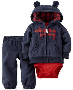 74d71c669 Carter's Baby Boys' 3-Piece Hoodie, Bodysuit & Pants Set & Reviews - All  Baby - Kids - Macy's
