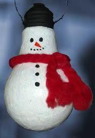 Snowman 2 Light Bulb