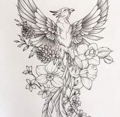 55 Ideas tattoo thigh phoenix tat for 2019 Feather With Birds Tattoo, Feather Tattoos, Forearm Tattoos, Flower Tattoos, Tattoo Hip, Big Tattoo, Scale Tattoo, Elephant Tattoos, Animal Tattoos