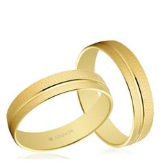 Alianzas boda Oro 1ª Ley amarillo mate brillo 4,5mm Argyor 5145473 18K