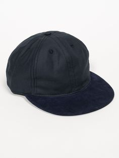BALL CAP - NAVY WITH SUEDE