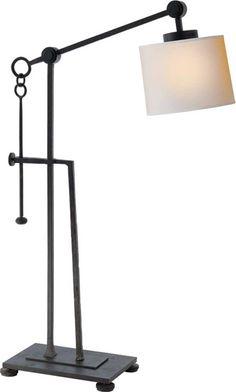 ASPEN IRON TABLE LAMP  item # S3030BR-NP     designer Studio