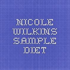 Nicole Wilkins sample diet