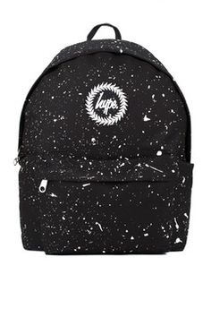 **Black and White Speckle Backpack by Hype