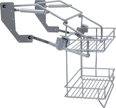 Hafele Pull down two tier wire shelf (504.59.221 & 504.59.222)