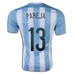Nicolas Pareja 13 2015 Copa America Argentina Home Soccer Jersey