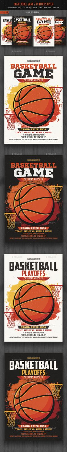 BasketBall Game Flyer Template Basketball games, Psd templates - sports flyer template