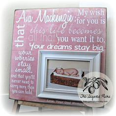 Baptism Gift, Godparents Gift, Christening Gift, Picture Frame 16x16, Baby Shower, Dedication, First Birthday Gift, Grandparents on Etsy, $84.09 AUD