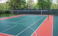 Building a Backyard Sport Court - tennis and basketball court houseplansandmore.com
