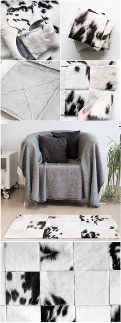 DIY Patchwork Kuhfell Teppich