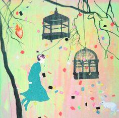 Gro Mukta Holter - The Burning Heart Burns, Illustration Art, Illustrations, Snoopy, Fine Art, Heart, Painting, Fictional Characters, Design
