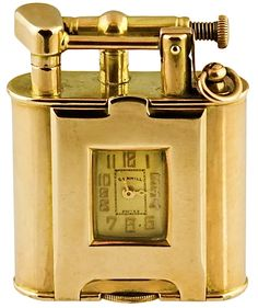Dunhill Gold Lighter Watch c.1934