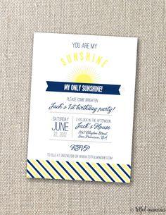 DIY Printable Invitation. You are My Sunshine Birthday COLLECTION Invitation. Customizable. totful memories