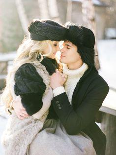 Romantic winter engagement shoot | Olga Plakitina Photography | see more on: http://burnettsboards.com/2014/12/romantic-russian-winter-engagement-editorial/